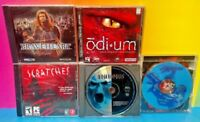 5 Game PC Horror Lot - Odium Scratches Noctropolis Braveheart Jagged Alliance 2