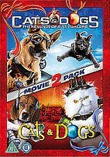 CATS AND DOGS 1 AND 2  DVD KIDS FAMILY FUN GIRLS BOYS DVD