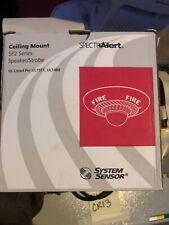 System Sensor Sp2c2495 Spectralert Ceiling Mount Speaker Strobe 24v White