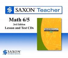 Saxon Math 65 Homeschool Teacher Lesson & Test CDs 6/5 Regular Price 99.00 NEW!