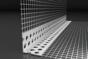 100 Stab Gewebeeckwinkel PVC WDVS Gewebewinkel 100x150mm 250m Eckwinkel