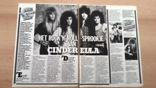 CINDERELLA 2 page ARTICLE / clipping from Joepie magazine (Belgium)