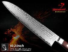 Handmade VG10 Steel Damascus Chef's Knife 10.2 inch Full-Tang Wood Handle NEW