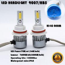 LED 72W 7600LM HB5 9007 Headlight Kit COB Hi/Lo Beam Bulbs 6000K High Power C6
