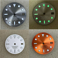 Watch Dial Green Luminous Dial 29MM Replacement For SKX007 NH35 Watch Movement