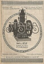 W9009 Oil Engines Italy-Muzz-Florence-Advertising 1917-VINTAGE AD