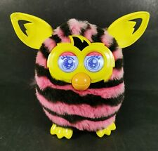 Hasbro Furby Boom Pink and Black Stripes 2013 Interactive toy Fully Working