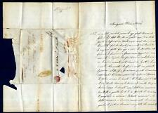 ITALIA - 1853 - Assicurata rossa da Trani - ovale su lettera - a Diano