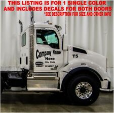 SEMI DUMP TRUCK COMMERCIAL 2 DOOR LETTERING SET DECALS COMPANY NAME VINYL DOT MC