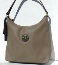 NEW! Green Grey-Brown Faux Leather [TOMMY HILFIGER] Medium HOBO Bucket Handbag