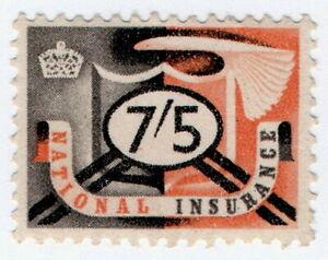 (I.B) Elizabeth II Revenue : National Insurance 7/5d