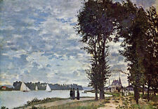 Oil painting Claude Monet - The Banks of the Seine at Argenteuil impressionism