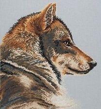 Mi mejor lado Wolf puntada cruzada contada Kit Maia ancla el arte de bordado