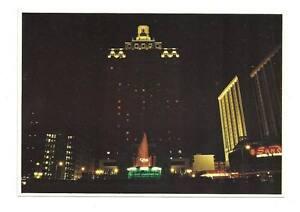 ATLANTIC CITY NJ Park Place Casino Hotel Night View PC New Jersey Postcard