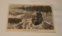 1885 magazine engraving ~ IN THE RAPIDS OF THE CONGO