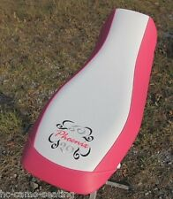 polaris phoenix 200 pink white  seat cover  with embrodered logo