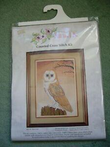 KINETIC BARN OWL CROSS STITCH KIT NUMBER KCS 16 USED L