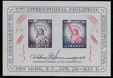 US Scott #1075, Souvenir Sheet 1956 FIPEX VF MNH