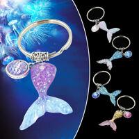 Women Charming Shiny Key Ring Sea Mermaid Scales Keychains Pendant Gift