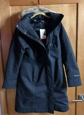 Marmot Chelsea Coat Waterproof Hood Parka Jacket Black M Medium Women's