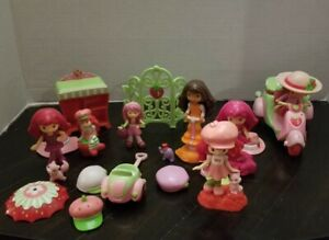 Assorted Strawberry Shortcake Lot of  Figures, scooter