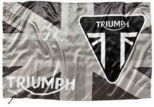 GENUINE TRIUMPH MARCHANDISES DRAPEAU UNION JACK Triumph BADGE STYLE noir/BLANC