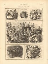 1873 ANTIQUE PRINT- HORSE RACING - NOTES AT THE DERBY