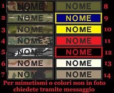 Patch nome softair toppa TOPPE personalizzata VELCR. INCLUSO TERMOSALDATA AIRSOF