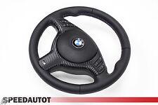 Glates BBR Lederlenkrad BMW E46, E39 M Lenkrad mit Blende Multifu. und Airbag