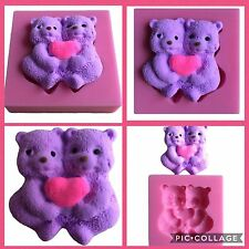 Bear Bear Hug Mould Mold Fondant  Chocolate Cup Cake Sugarcraft Resin