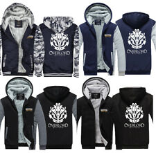 Anime Overlord Print Hoodie Winter Hooded Coat Sweatshirt Thicken Zipper Jacket