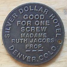 Silver Dollar Hotel Fantasy Brothel Token; Denver Colorado (#x330)