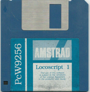 LOCOSCRIPT 1 Start Up Disc On 3.5 Inch Format For The AMSTRAD PcW 9256 Computer