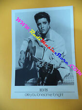 CARTOLINA PROMOZIONALE POSTCARD ELVIS PRESLEY Are you 12x17 cm no*cd dvd lp mc