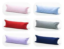 100% Brushed Cotton Flannelette Easy Care Comfort Bolster Long Pillow Case