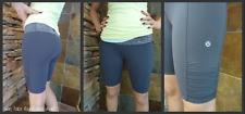 Rare Lululemon Gray Run Take Flight Bike Shorts Size 4 Running Biking Crops