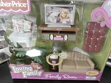 LOVING FAMILY Living Room PLAY SET Doll House Furniture Music Lights 2009 RARE