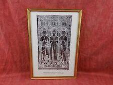 lovely print of famous Church Brass Kings Lynn Norfolk gilt picture frame
