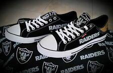 Oakland Raiders Levis Canvas Men's Sneakers
