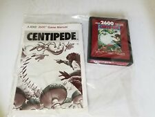 NEVER USED PAL BROWN CENTIPEDE WITH MANUAL GAME FOR ATARI 2600 NOT FOR USA i23