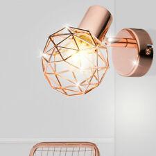 Luxury Wall Spotlight Room Floorboards Lighting Copper Ball Mesh Lamp