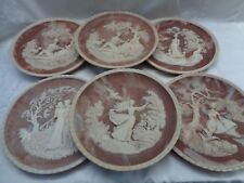 """Vintage Limited Edition Incolay 3D Stone Plates X6 """"Romantic Poets Collection"""""""