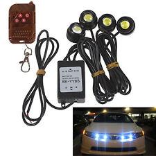4x Super White Wireless Remote Control Car Emergency Warning Strobe Grille Light