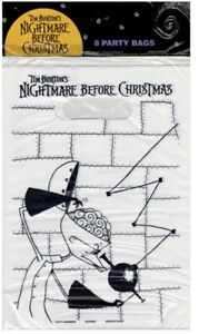 Nightmare Before Christmas Vintage Party Favor Loot Bags Tim Burton 8ct