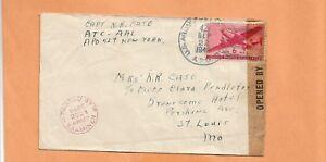 WW II U.S MILITARY COVER APO 429 CAPT R.R. CASE 1943 US ARMY CENSORED