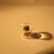 Dollhouse miniature false teeth in a glass ~ 1/12 scale
