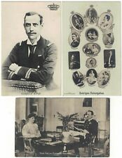 3 Postcards of European Royalty Early 1900s Norway and Sweden
