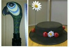 CHILDS MARY POPPINS INSPIRED HAT WITH SMALLER UMBRELLA .FAST POST OPTION AVAILAB