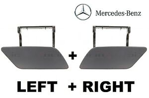 NEW Mercedes ML W164 2008-11 Front Bumper Headlight Washer Cover Set Left+Right