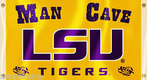 "LSU Tigers 3' x 5' Flag (Man Cave with ""LSU"") NCAA Licensed"
